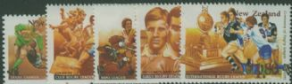 NZ SG1888-92 Centenary of Rugby League set of 5